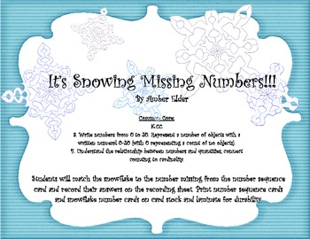 Winter Wonderland Math and Literacy Activities COMMON CORE ALIGNED