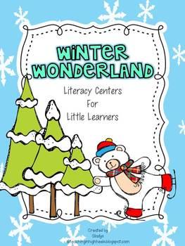 Winter Wonderland Math and Literacy Centers {Bundle}