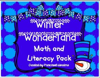 Winter Wonderland Math and Literacy Pack