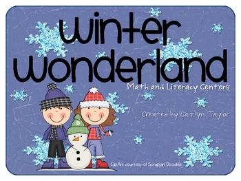 Winter Wonderland Math/Literacy Centers