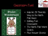 Winter Wonderland:  Maze, Crossword, and Word Search Fun