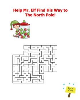 Winter Wonderland:  Maze, Crossword, and Word Search Fun