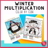 Winter Color by Number: Multiplication