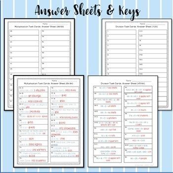 Multiplication and Division Word Problem Task Card Bundle