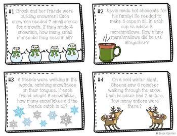 Winter Wonderland Multiplication Task Cards