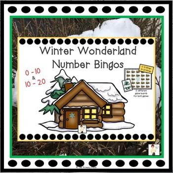 Winter Wonderland Number Bingos  0-10 & 10-20