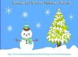 Winter Wonderland Number Words for ActivBoard