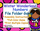 Winter Wonderland Numbers File Folder Game