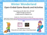 Winter Wonderland Open-Ended Game Boards and Activities