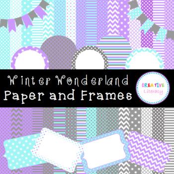 Winter Wonderland Paper and Frames Pack