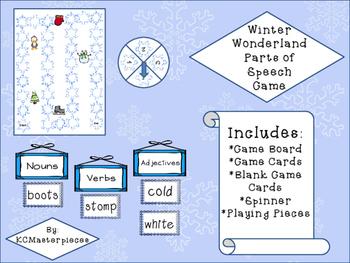 Winter Wonderland Parts of Speech Game