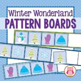 Winter Wonderland Pattern Boards for Preschool and Kindergarten