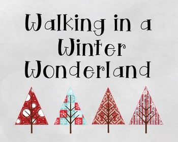 Winter Wonderland Poster, Class Decor, Holiday Sign, Bulletin Board