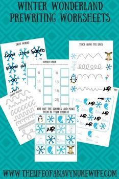 Winter Wonderland PreWriting Worksheets