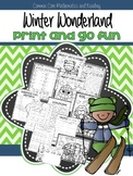 Winter Wonderland Print and Go Fun
