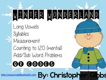 Winter Wonderland QR Unit Long Vowels, Syllables, Couting to 120