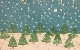 Winter Wonderland Snow/Triangle Trees Painting