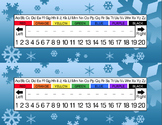 Winter Wonderland Snowflakes Desk Name Tag Plates Set