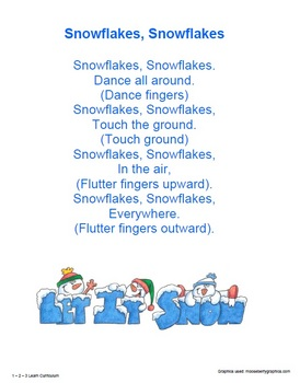Winter Wonderland Songs, Poems and Fingerplays