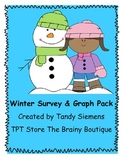 Winter Wonderland Survey and Graph Math Activity Packet