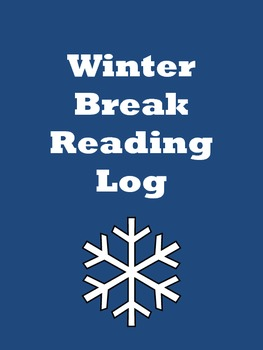 Winter Wonderland Winter Break Reading Log