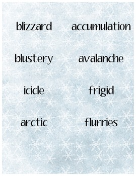 Winter Wonderland Word Cards
