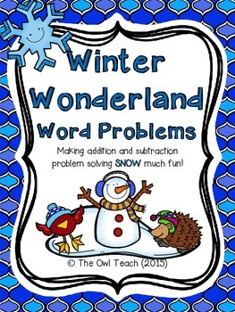 Second Grade Word Problems:  Winter Set with QR Codes