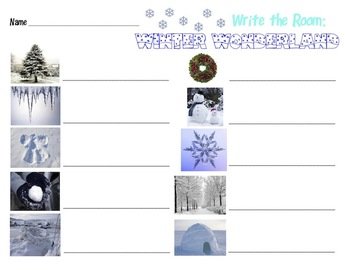 Winter Wonderland - Write the Room Activity