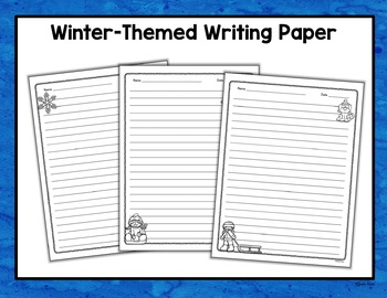 Winter Wonderland Writing Task Cards Common Core-Opinion, Informative, Narrative