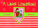Winter Wonderland a Snowman Banner