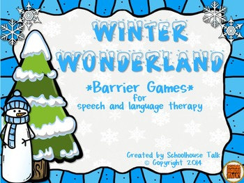 Winter Wonderland {barrier games for speech and language therapy}