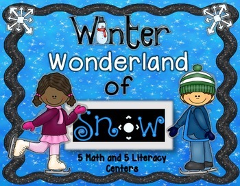Winter Math Math and Literacy Centers