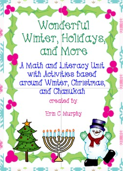 Winter Wonderland of Holiday Activities- A Literacy and Math Packet
