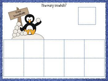 Winter Wonderland play dough work mats