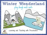 Winter Wonderland play dough work mats