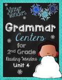 Winter Wonders Grammar Centers for Grade 2 Unit 4