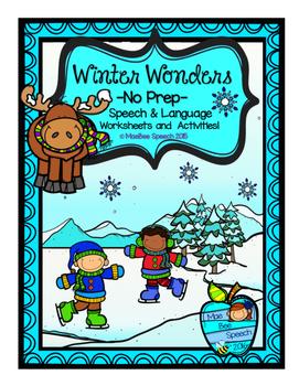 Winter Wonders NO PREP Elementary Speech and Language Work