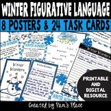 Figurative Language Winter Task Cards PRINTABLE and DIGITAL