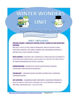 Winter Wonders Unit, Christmas, Writing, Math, Twelve Days of Christmas