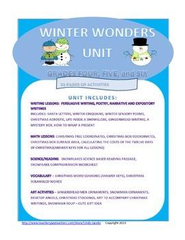Winter Wonders Unit, Christmas, Writing, Math, Twelve Days
