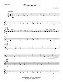 Winter Wonders– Very Easy Beginning Band arrangement