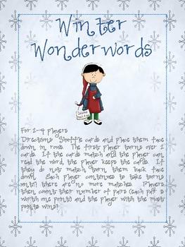 Winter Wonderwords - Dolch Primer List