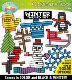 Winter Wooden Block Rods Clipart {Zip-A-Dee-Doo-Dah Designs}