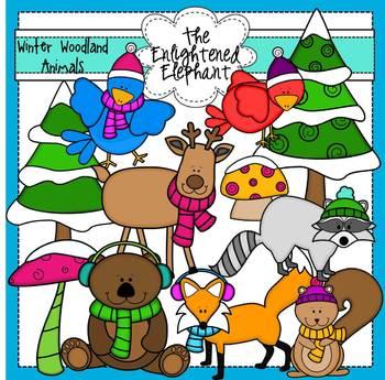 Winter Woodland Animals Clip Art