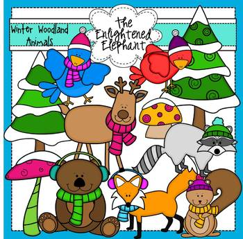 Winter Woodland Animals Clip Art
