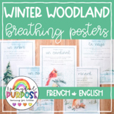 Winter Woodland Breathing Posters in English AND French //