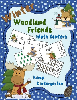 Winter Woodland Friends Math Centers (Numerals to 20)