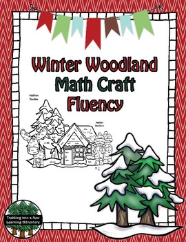 Winter Woodland Math Fact Fluency CRAFT
