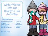 Winter Word Activities