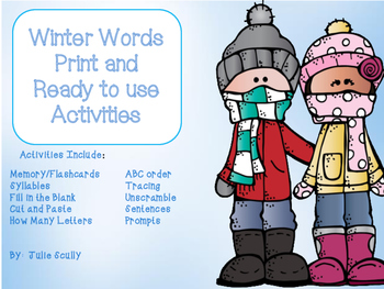 Winter Word Activities